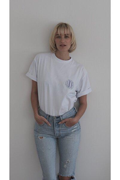 HOLEACADEMIE Unisex Beyaz Oversize Tshirt Holeacademie