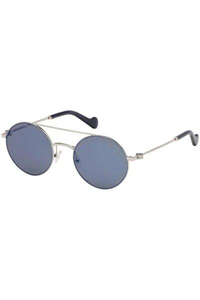 Moncler Erkek Gümüş Güneş Gözlüğü