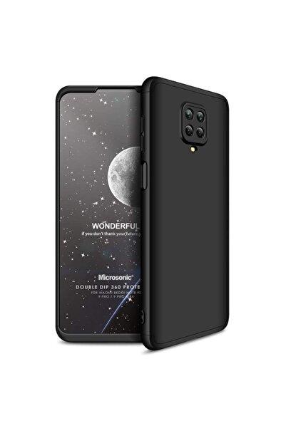 Microsonic Microsonic Redmi Note 9s Kılıf Double Dip 360 Protective Siyah