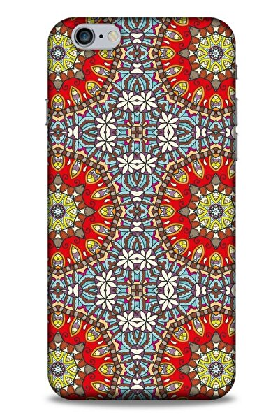 Lopard Ethnic Culture (6) Apple Iphone 6s Plus Kılıf Silikon Kapak Desenli