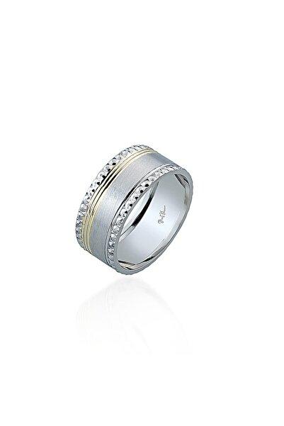 Gümüş Pazarım Altın Kaplama Tek Şeritli Kadın Gümüş Alyans