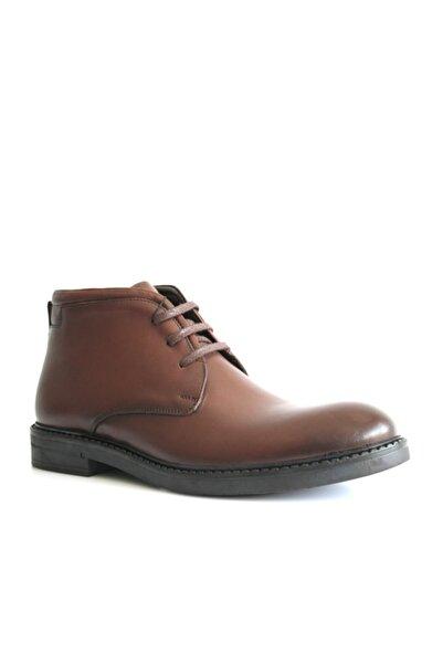 Beta Shoes Hakiki Deri Erkek Bot Kahve
