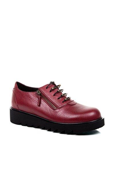 Beta Shoes Günlük Ayakkabı Hakiki Deri Kadın Bordo