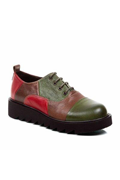 Beta Shoes Kadın Yeşil Casual Ayakkabı Hakiki Deri