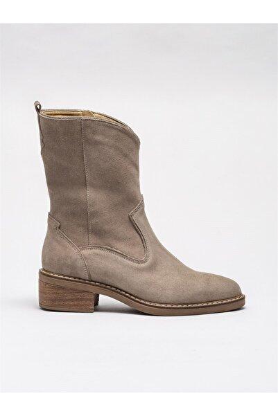 Elle Shoes Vizon Deri Kadın Günlük Bot