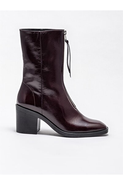 Elle Shoes Bordo Deri Kadın Günlük Bot