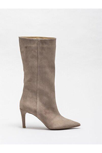 Elle Shoes Vizon Deri Kadın Klasik Bot
