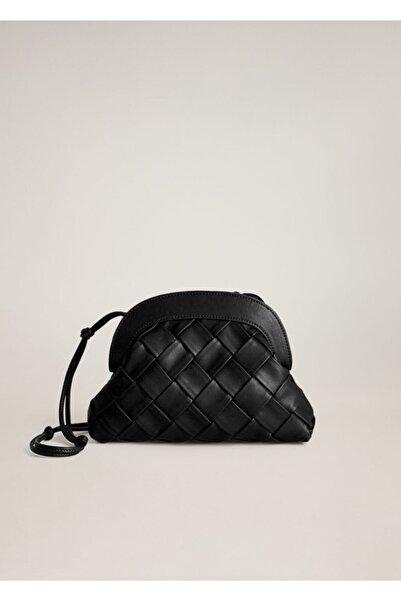 MANGO Woman Örgü Tasarımlı Çanta