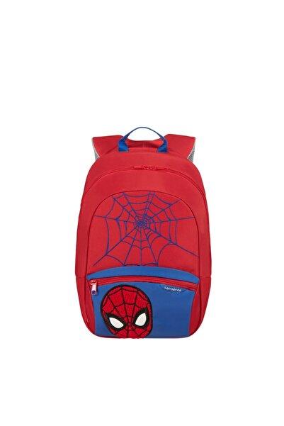 Samsonite Unisex Çocuk Kırmızı Disney Ultimate 2.0-bp S + Marvel Spider Sırt Çantası