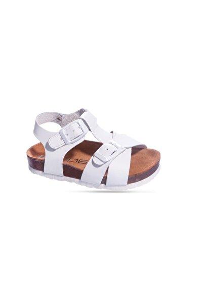 Sanbe 511 N 7103 26-30 Deri Sandalet-beyaz