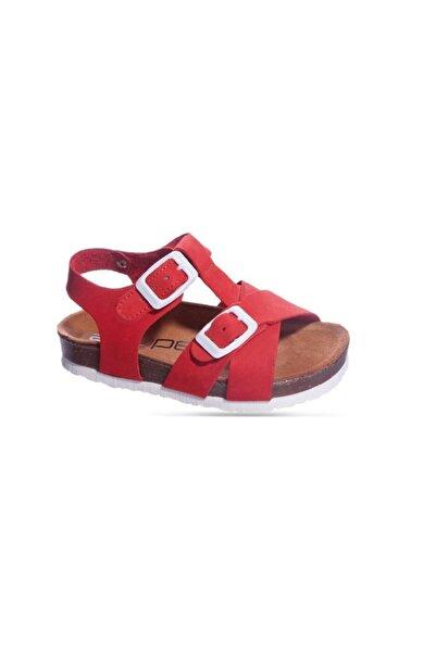 Sanbe 511 N 7103 26-30 Deri Sandalet-kırmızı