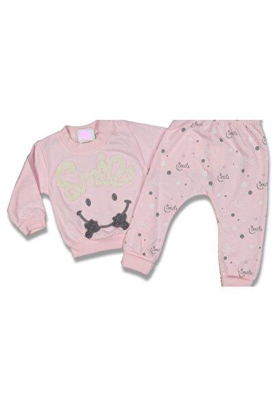 SafariBaby Kız Bebek Smile Yazılı 2'li Pijama Takım