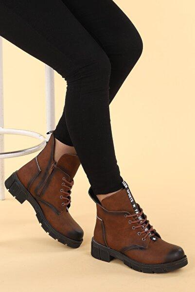 Ayakland Ymr 910 Cilt Termo Taban Kadın Fermuarlı Bot Ayakkabı