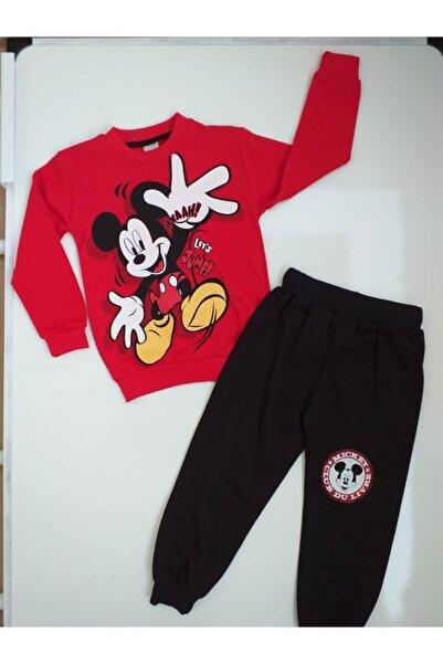 Mickey Mouse Erkek Çocuk Kırmızı Eşofman Takım