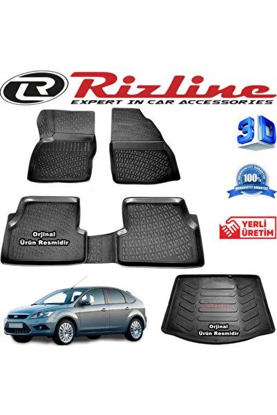 Rizline Ford Focus 2 3d Paspas + 3d Bagaj Havuzu Hb 2005-2011 Arası Siyah Set