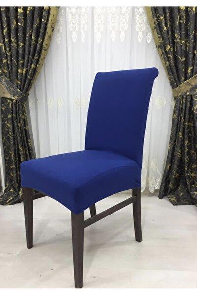 ARKO Indigo Mavi Streç Süet Sandalye Kılıfı 6 Adet