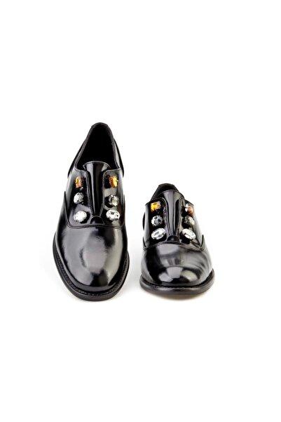 Cabani Kadın Siyah Neolıt Taban Taşlı Ayakkabı 2002
