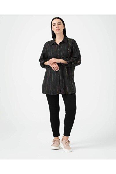 SEÇİL Kadın Antrasit Gömlek 6408