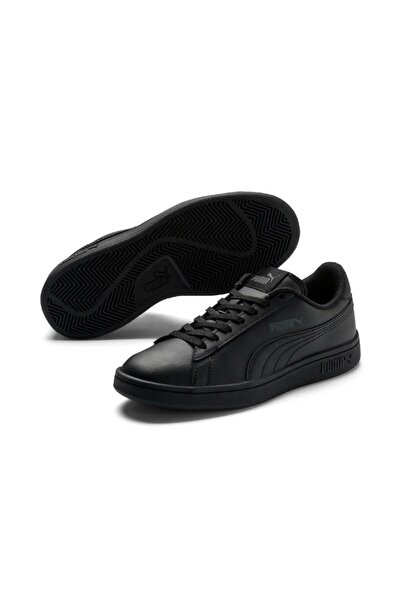 Puma Unisex Siyah Smash V2 L Jr Spor Ayakkabı 365170-02