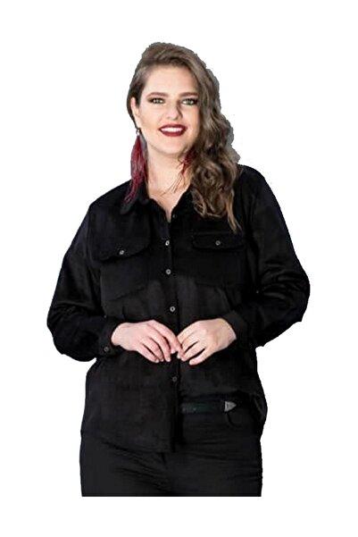 Günay Giyim Kadın Siyah Gömlek Hnz9643