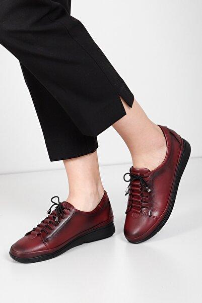 G.Ö.N Kadın Bordo Hakiki Deri Günlük Ayakkabı 45500