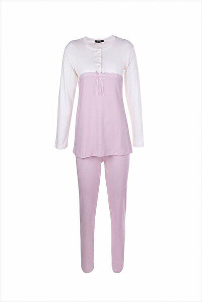 AYYILDIZ Kadın Açık Pembe Yuvarlak Yakalı Pijama Takımı 59505