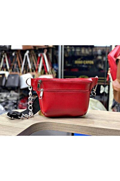 Kashpanya Kırmızı Renk Bel Çanta
