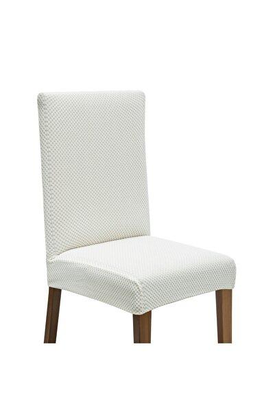 Latuda Concept Latuda Likralı Yıkanabilir Sandalye Kılıfı | Sandalye Örtüsü Taş 6 Adet