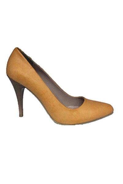 Elegan Kadın Turuncu Klasik Topuklu Ayakkabı