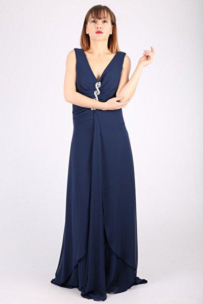 Günay Kadın Lacivert Askılı Abiye Elbise Tn15065