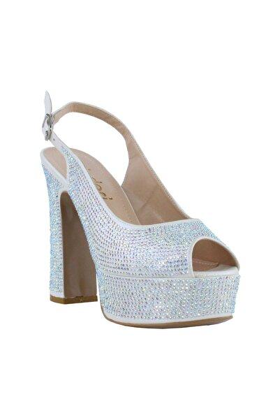inderi Kadın Gri Topuklu Ayakkabı