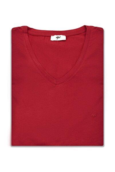 İgs Erkek Bordo Modern Fit T-shirt
