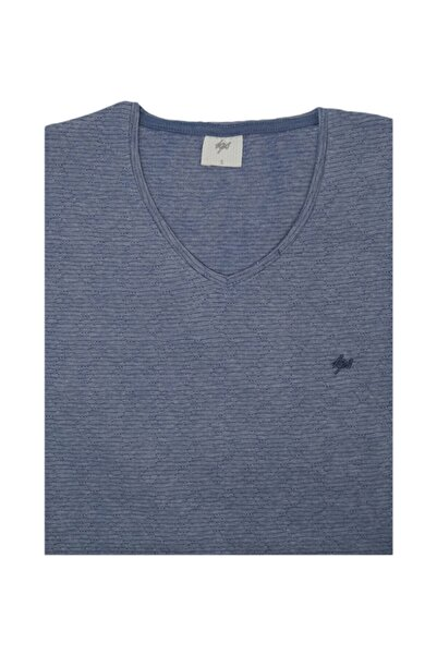 İgs Erkek Lacivert Slim Fit Tişört
