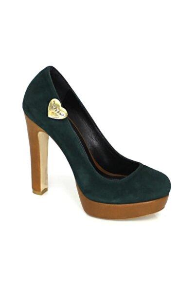 Karnaval Ayakkabı Kadın Haki Platform Klasik Topuklu Ayakkabı