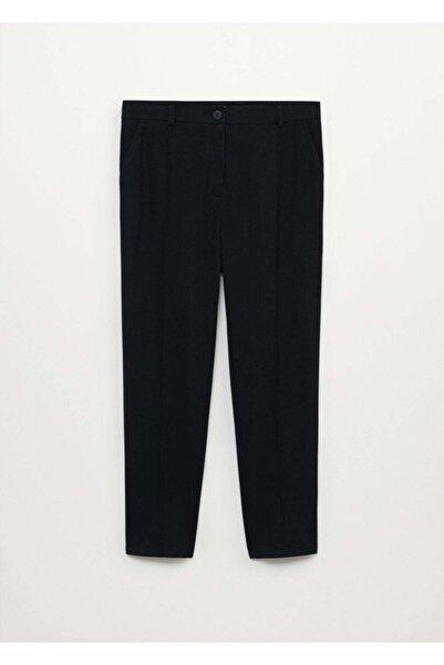 Violeta by MANGO Kadın Siyah Dar Kesimli Takım Pantolon
