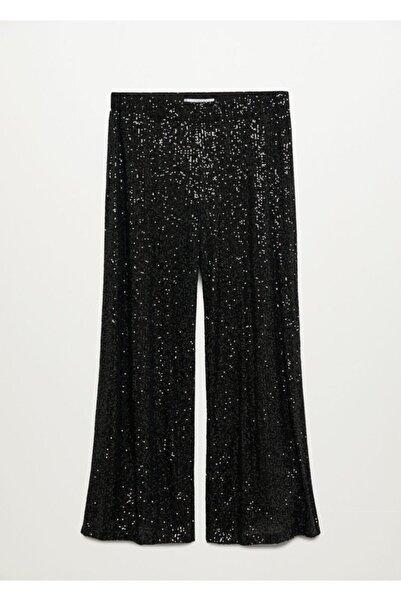 Violeta by MANGO Kadın Siyah Pantolon 77049204