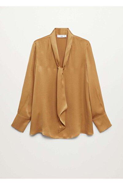MANGO Woman Kadın Sarı Fularlı Gömlek