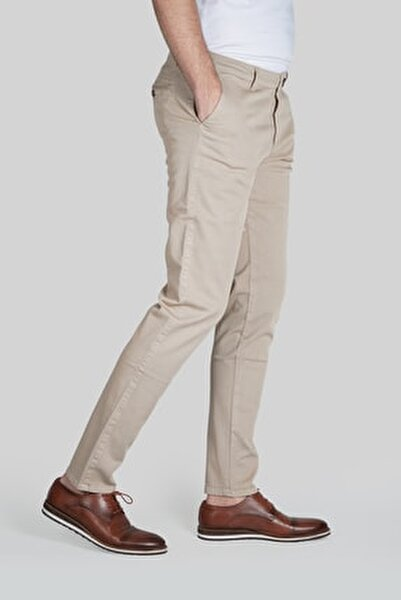 Erkek Bej Dynamic Pantolon