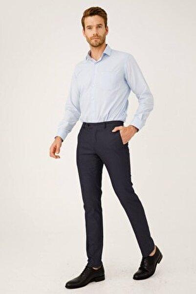 Erkek Koyu Lacivert Dar Kalıp Pantolon