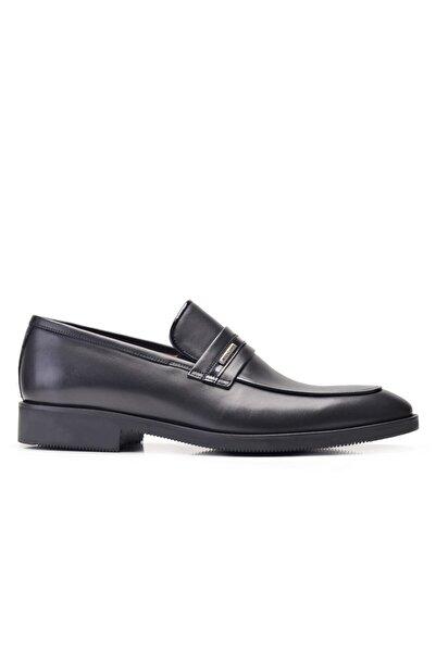 Nevzat Onay Hakiki Deri Siyah Klasik Loafer Erkek Ayakkabı -11887-