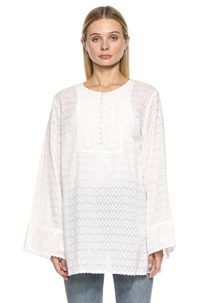 ANDREW GN Kadın Beyaz Gömlek