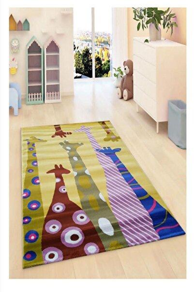 Payidar Halı Kids Amigo 8511A Pembe Zürafalar Çocuk Halısı