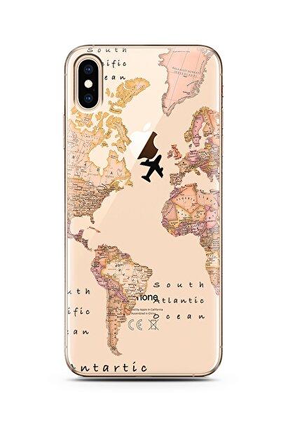 Spoyi Transparan Harita Tasarım Süper Şeffaf Silikon Telefon Kılıfı Iphone Xs Max