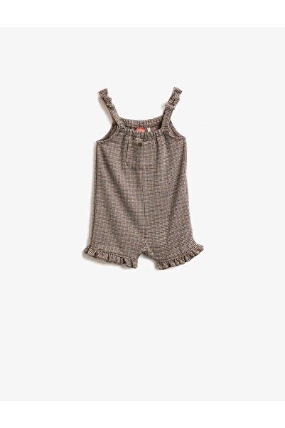 Koton Kız Bebek Kahverengi Tulum