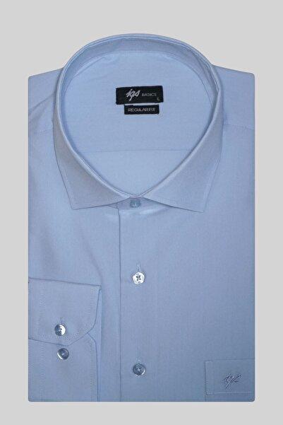 İgs Erkek Açık Mavi Regularfıt Rahat Kalıp  Klasik Gömlek