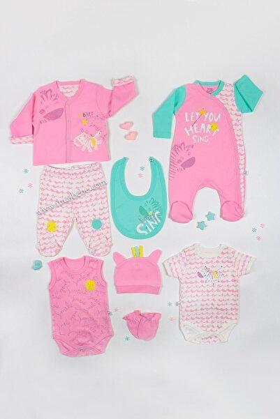 İmaj Kız Bebek Little Moons Hastane Çıkışı Tulumlu 8`li Set Zebra Desenli