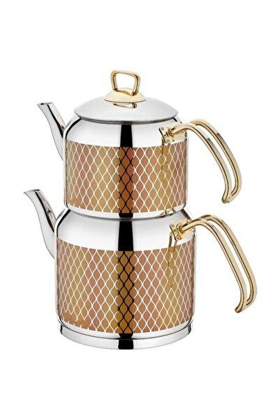 SILA Mermer Desen No:3 Çaydanlık