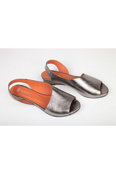 Eti Butik Kadın Metalik Deri Sandalet