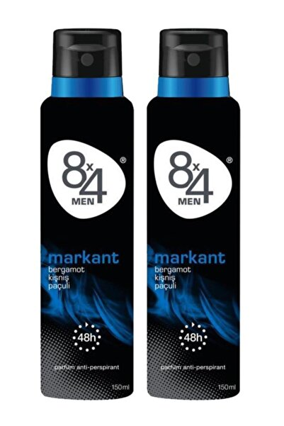 8x4 Men Markant Sprey Deodorant 150 Ml X 2 Adet
