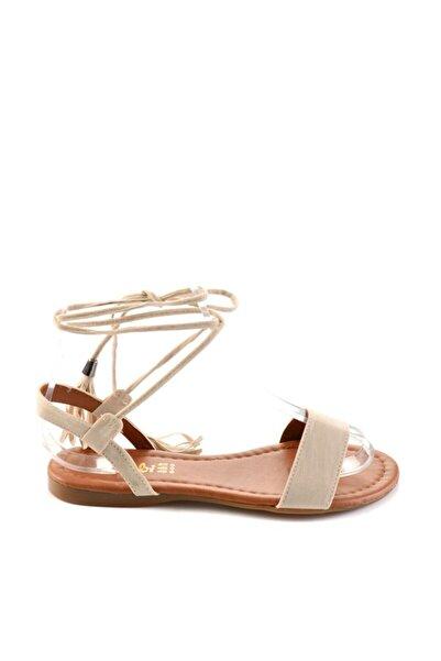 Bambi Kadın Bej Sandalet H0503172672